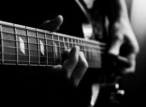 A black guitar