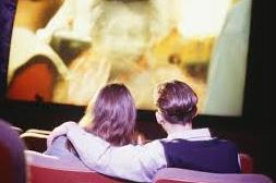 A couple watching movie